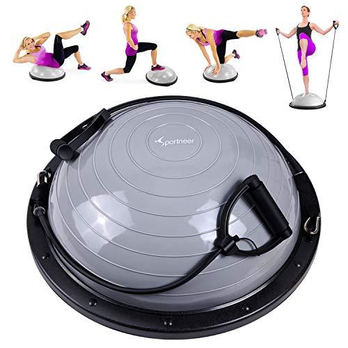 Sportneer Balance Ball, Balance Board mit Widerstandsbändern, Balance Trainer Bonus-Pumpe für Yoga Fitness,...