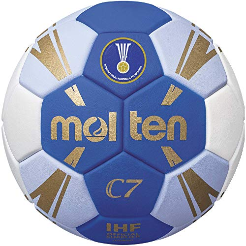 Molten C7 Trainingsball blau/weiß/Gold 2, H2C3500-BW
