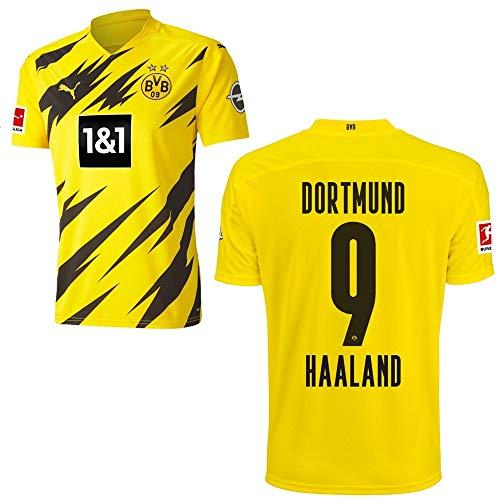 PUMA Borussia Dortmund BVB Heimtrikot 2020 2021 Home Trikot Sponsor BL Logo Kinder Erling Haaland 9 Gr 176