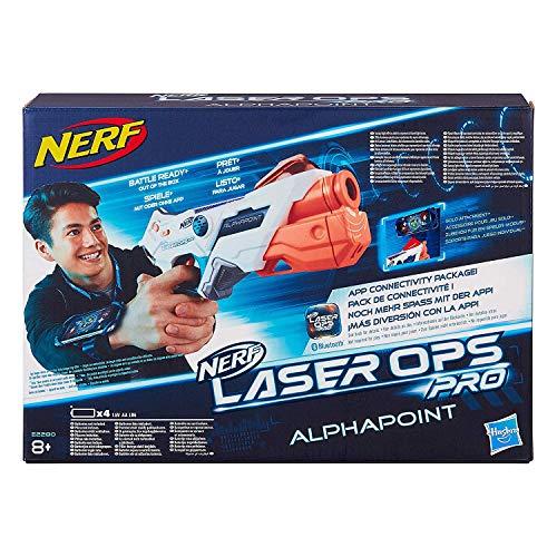 Nerf Laser Ops AlphaPoint, LaserTag-Blaster mit Licht- & Soundeffekt, Kinder-Spielzeug, inkl....