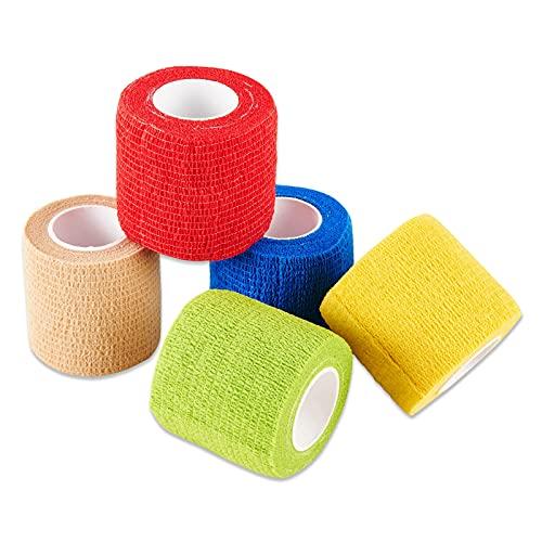 Selighting 5 Stk Selbsthaftend Bandagen Klebeverband Selbstklebend Bandagen für Finger Handgelenk und...