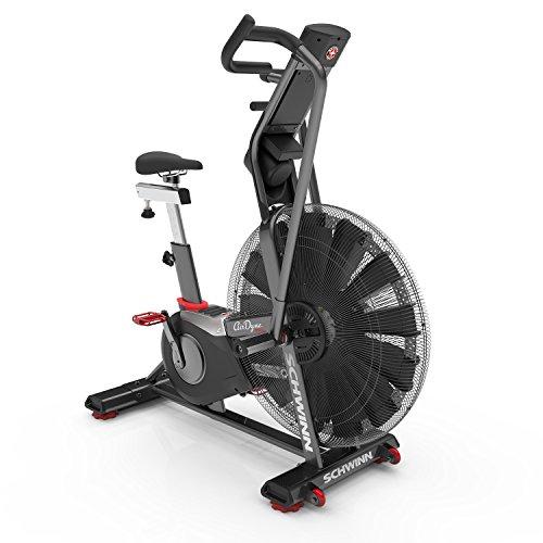 Schwinn Airdyne AD8, Profi-Fitnessbike mit grenzenlosem Luftwiderstand, LCD-Konsole mit Watt-Anzeige,...