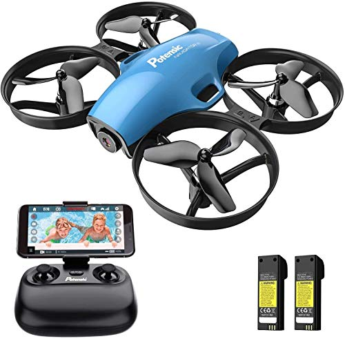 Potensic FPV RC Drohne mit HD Kamera, tragbar Quadrocopter 2.4G 6-Achsen-Fernbedienung, Höhenlage, ...