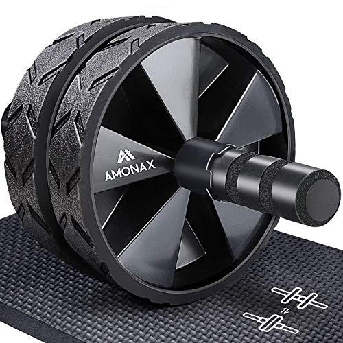 Amonax Bauchroller, bauchtrainer ab roller, bauchmuskeltrainer ab wheel set, mit Rutschfester, inkl. gut...