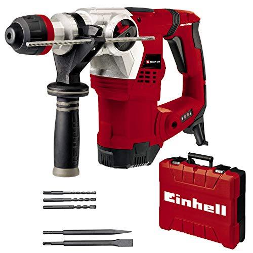 Einhell Bohrhammer TE-RH 32 4F Kit (1250 W, 5.0 Joule, 32 mm Bohrleistung in Beton, SDS-Plus,...