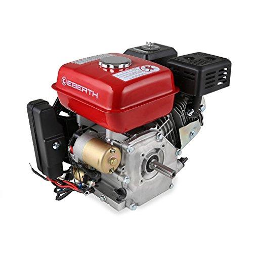EBERTH 6,5 PS 4,8 kW Benzinmotor Standmotor Kartmotor Antriebsmotor Austauschmotor (E-Start, 3/4 Zoll 19,05 mm...