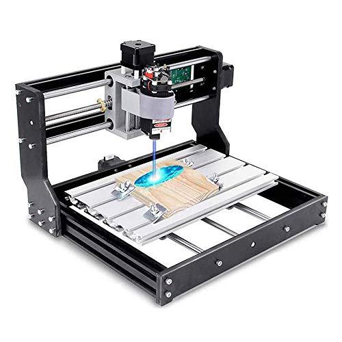 Vogvigo 2-in-1 CNC 3018 Pro Fräsmaschine mit 15000mW Lasermodul GRBL Steuerung DIY Mini CNC Maschine, 3...