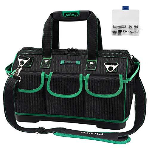 AIRAJ18 Zoll wasserdichte Werkzeugtasche, Weithals Werkzeugtasche mit großer Kapazität, Multifunktions...