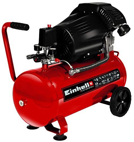 Einhell Kompressor TC-AC 420/50/10 V (2.200 W, 2.850 min-1, max. 10 bar, 50 l-Tank, Doppelverdichtereinheit,...