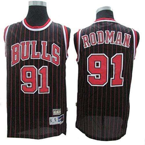Dennis Rodman # 91 Herren-Basketball Jersey, Bulls Retro All-Star atmungsaktiv Swingman Trikots (Color :...
