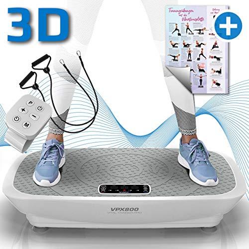 Kinetic Sports 3D Vibrationsplatte VPX800 VITAL Trainer PRO +2 leistungsstarke Motoren +Intuitiv +Leicht zu...