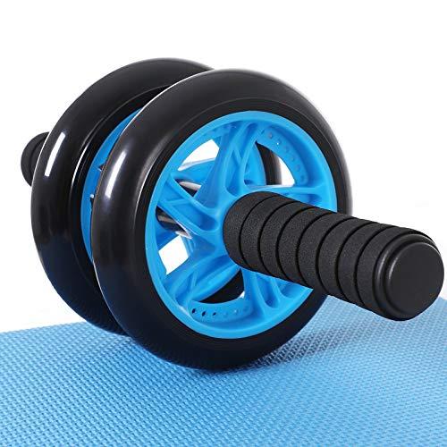 SONGMICS Bauchroller, AB Roller Bauchtrainer, AB Wheel für Fitness, mit rutschfester, gut gepolsterter...
