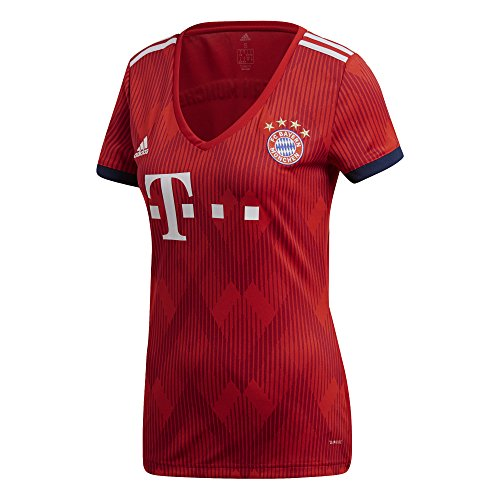 adidas Damen 18/19 FC Bayern Home Trikot, FCB True red/Strong red/White, L