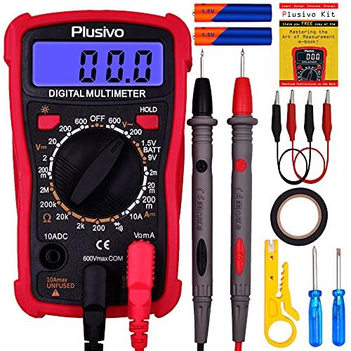 Digital Multimeter – Zuverlässige Messung von Spannung, Strom und Widerstand, Autobatterien, Spannung,...