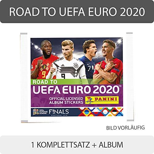 Unbekannt Panini - Road to UEFA Euro 2020 - Sammelsticker - Komplettsatz + Album