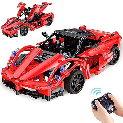VATOS Bausteine Ferngesteuertes Auto ab 6 - 12 Jahren alt Jungen Mädchen 380 Teile Konstruktionsspielzeug...