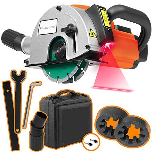 TIMBERTECH® Mauernutfräse mit Laser - 1700W, 4.000 U/min, Nuttiefe bis 40mm, Nutbreite bis 26mm,...
