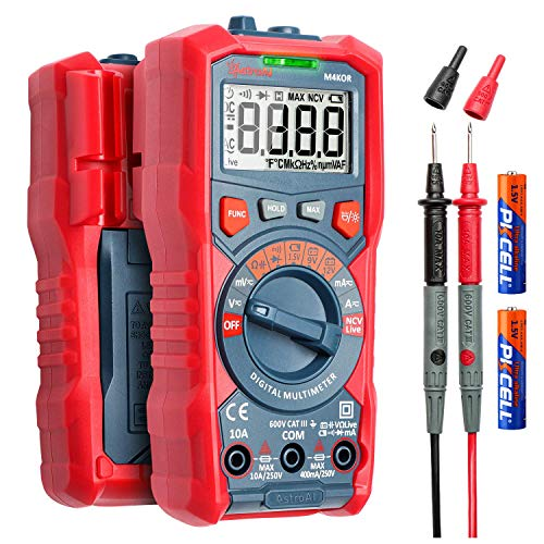 AstroAI Digital Multimeter, Voltmeter Ohmmeter Auto Range 4000 Counts TRMS Strommessgerät mit NCV und...