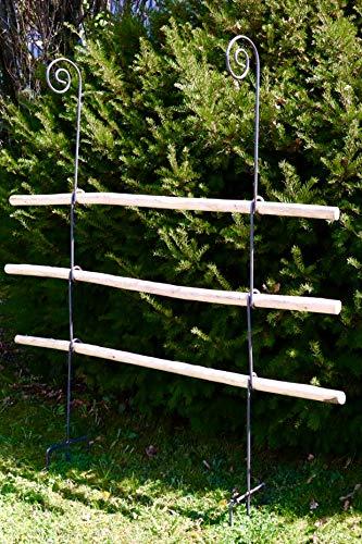 Hirsch Terracotta Rankgitter aus Holz/Metal stabil und freistehende Dekoration für den Garten in Naturrost...