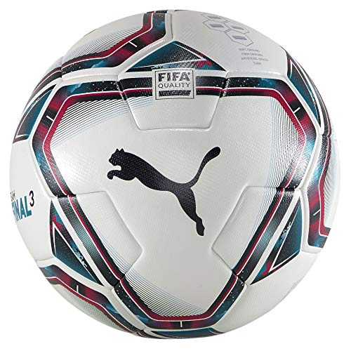 PUMA Unisex– Erwachsene teamFINAL 21.3 FIFA Quality Ba Fußball, White-Rose Red-Ocean Depths...