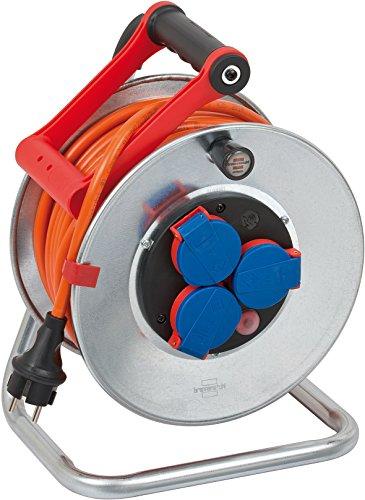 Brennenstuhl Garant S IP44 Kabeltrommel (25m Kabel in orange, Stahlblech, Einsatz im Außenbereich, Made in...