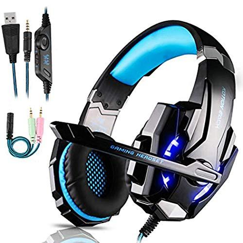 FUNINGEEK Gaming Headset für PS4 PC Xbox One, Professional Kopfhörer mit Mikrofon für...