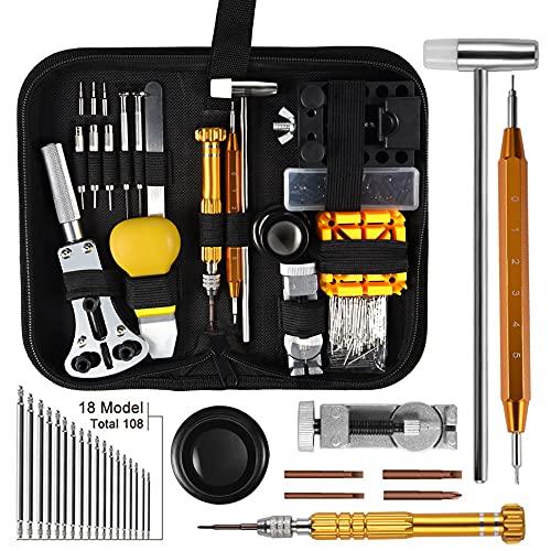 AneyWell Uhrenwerkzeug Set, 149tlg Uhrmacherwerkzeug Set Multi-Funktion Profi Uhren Reparatur Set Tragbar und...