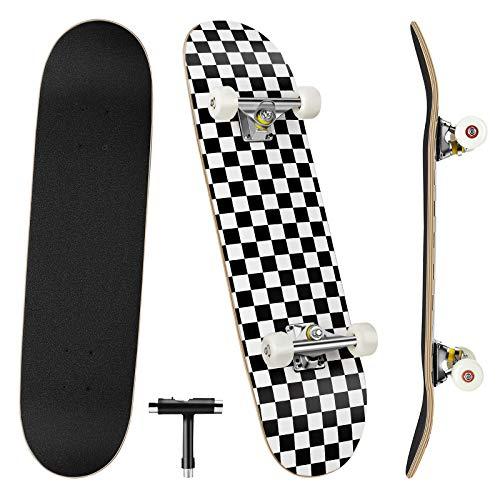 Benewell Skateboard Komplett Board Funboard 79x20cm mit 7-lagigem Ahornholz, für Kinder, Jugendliche und...