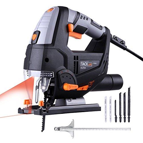 Stichsäge, TACKLIFE 800W 3000SPM Elektro Stichsäge mit Laser & LED, 6-Geschwindigkeitsvorwahl,...