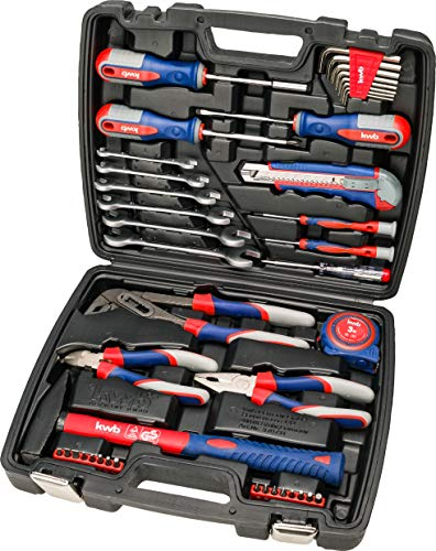 kwb Werkzeug-Koffer inkl. Schrauber-Bits, 42-teilig, gefüllt, robust und hochwertig, ideal für den Haushalt...