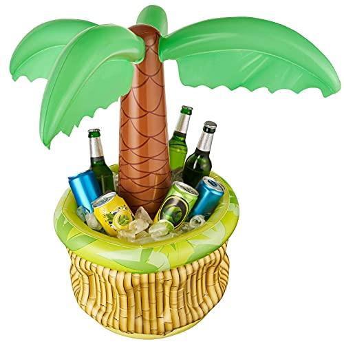Balinco Aufblasbare Palme Bierkühler Bier Party Kühler Eiskübel Partyzubehör Aufblasbarer Partykühler...