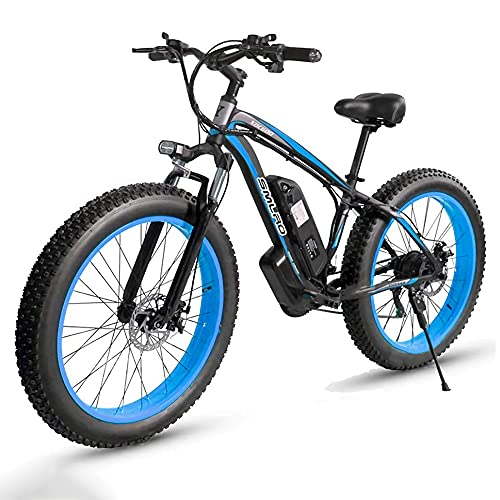 26 Zoll E-Bike Mountainbike, mit Hinterradmotor 1000W 48V | 85 Nm | 13AH Abnehmbare Lithium-Batterie |...