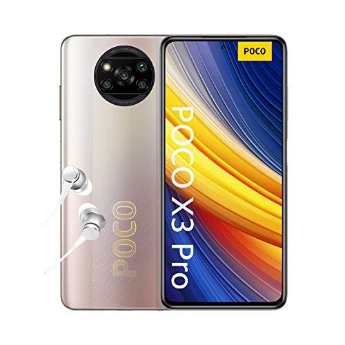 POCO X3 PRO Smartphone + Kopfhörer (16,94cm (6,67') FHD+ LCD DotDisplay 120Hz, 8GB+256GB Speicher, 48MP...
