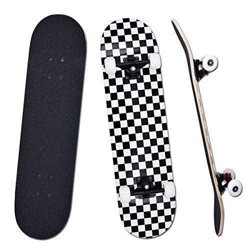YUDOXN Komplettes Skateboard für Anfänger, Jugendliche, Kinder, Mädchen, 7 Schichten aus Ahornholz mit...