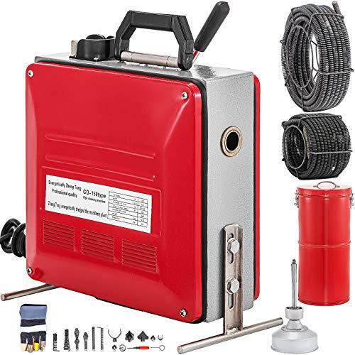 VEVOR Rohrreinigungsmaschine Rohrreinigungsgerät Leistung 690 W Reinigungsrohrdurchmesser 20-160 mm Rohr...