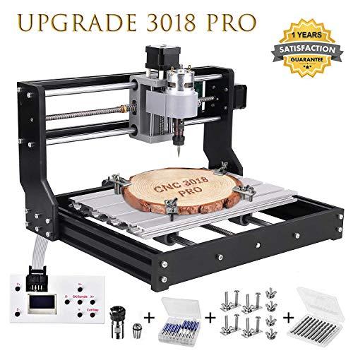 Upgrade CNC 3018 Pro Fräsmaschine Laser Graviermaschine,Vogvigo Holz Router Kit GRBL Steuerung DIY Mini CNC...