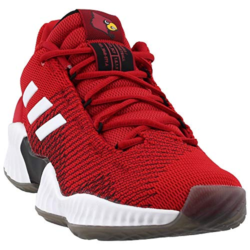 adidas Men's Basketball Pro Bounce 2018 Low Shoe (9, Power RED/White/Black)