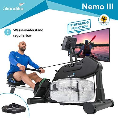 skandika Wasser Rudergert Nemo II/III, Water Ruderzugmaschine mit regulierbarem Wasserwiderstand, klappbar,...