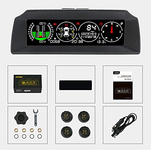 AUTOOL X91 Auto Hud 3 in 1 TPMS, GPS Smart Auto Head Up Display Auto-Neigungsmesser Digitales Messgerät für...
