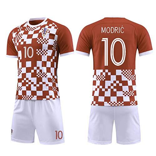 Kinder Fußball Trikot Set-10# Modric Kroatien Professionelle technische Kleidung Athleten Trikot Fans Anzug...
