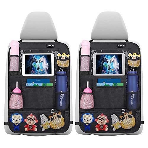 Auto Rückenlehnenschutz Ezilif 2 Stück Groß Auto Rücksitz Organizer für Kinder, 600D Oxford Stoff...