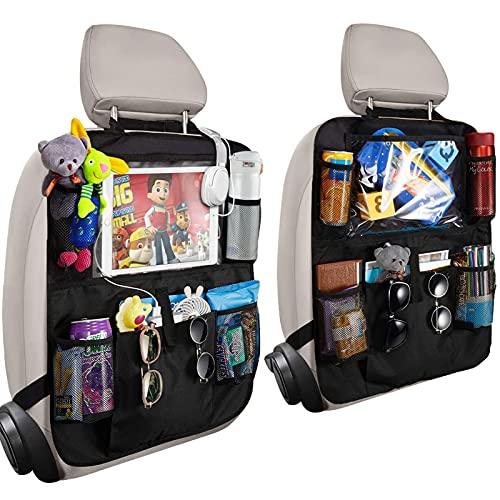 Orlegol Auto Rückenlehnenschutz, 2x Auto Rücksitz Organizer für Kinder, Wasserdicht Rücksitzschoner mit...