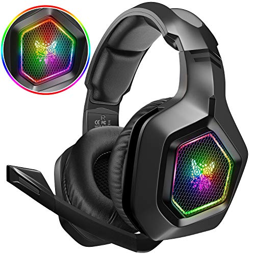 DIZA100 Gaming Headset für PS4 PC Xbox One, 3.5mm Surround Sound Kabelgebundenes ONIKUMA Gaming Kopfhörer...