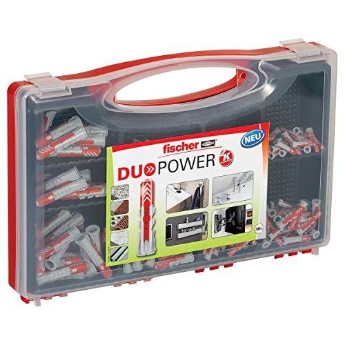 fischer RED-BOX DUOPOWER, Sortimentbox mit 280 DUOPOWER Dübeln (30 Stk. 5 x 25, 140 Stk. 6 x 30, 80 Stk. 8 x...