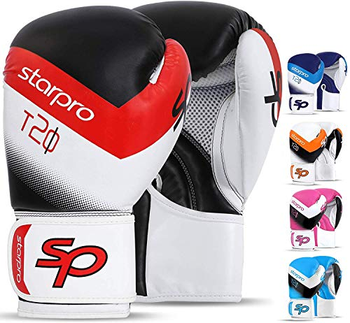 STARPRO Boxhandschuhe Muay Thai Training - 8oz 10oz 12oz 14oz 16oz | Professionelle Boxhandschuh Boxsack...