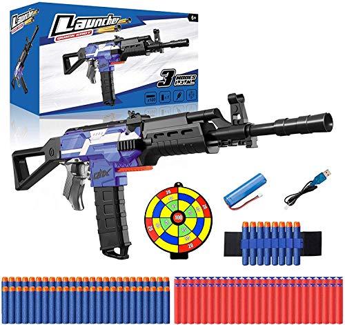 Elektrische Spielzeug Pistole mit 12 Clip Magazin, Automatische Nerf Blaster mit 100 Munition, Zielscheibe,...