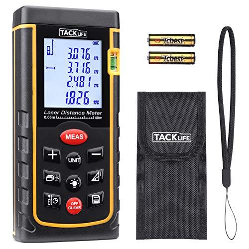 Laser Entfernungsmesser Tacklife A-LDM01 40 Advanced Distanzmessgerät (Messbreich: 0,05~40m/±2mm) mit...