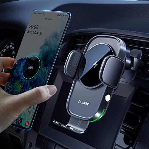 Auckly 15W Fast Wireless Charger Auto Handyhalterung Mit Ladefunktion Automatischer Induktion Motor Betrieb Qi...