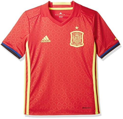 adidas Jungen Fußball/Heim-trikot UEFA Euro 2016 Spanien Replica, Scarlet/Bright Yellow, 128