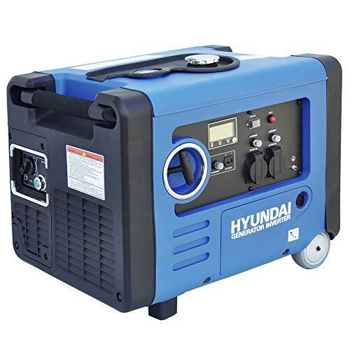 HYUNDAI Inverter-Generator HY4500SEi D (tragbarer Benzin Generator, Inverter Stromerzeuger mit 4.0 kW...